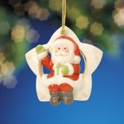 Lenox Christmas 808449 Santa Sitting on a Star Ornament