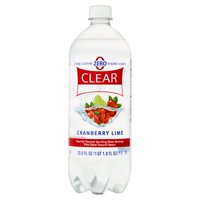 Clear American Sparkling Water Beverage, Cranberry Lime, 33.8 oz