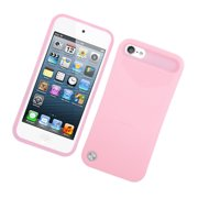 iPod Touch 6th Generation Case, iPod Touch 5th Generation Case, by Insten Night Glow Jelly Plastic/Silicone Case Cover for Apple iPod Touch 5 5th 6 6th Gen, Pink