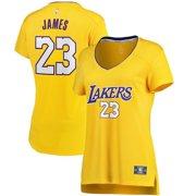 8d783ea0 LeBron James Los Angeles Lakers Fanatics Branded Women's 2017/18 Fast Break  Replica Jersey Gold