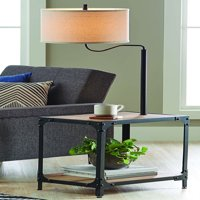 Better Homes and Garden 4 Foot 7 Inch End Table Floor Lamp with USB Port, Weathered and Black Finish