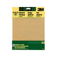 "3M All-Purpose Sandpaper, 5 Assorted Sheets, 9"" x 11"""