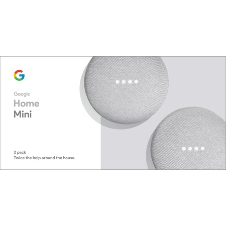 Google Home Mini - Chalk, 2-Pack (Best Uses For Echo Dot)