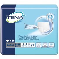 TENA for Women Extra Absorbency Protective Incontinence Underwear, Large, 16 count