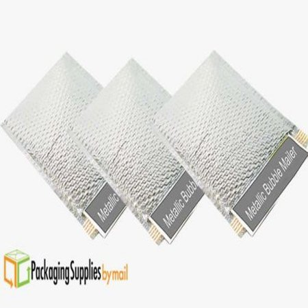 100 Metallic Bubble Mailers, Silver Shipping Mailing Padded Envelopes 9
