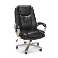 Essentials by OFM ESS-201 Big and Tall Leather Executive Office Chair with Arms, Brown/Bronze