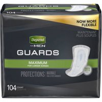 Depend Incontinence Guards for Men, Maximum Absorbency, 104 Ct