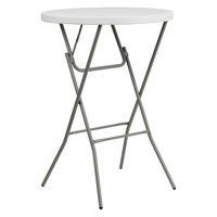 Flash Furniture 32'' Round Plastic Bar Height Folding Tables White