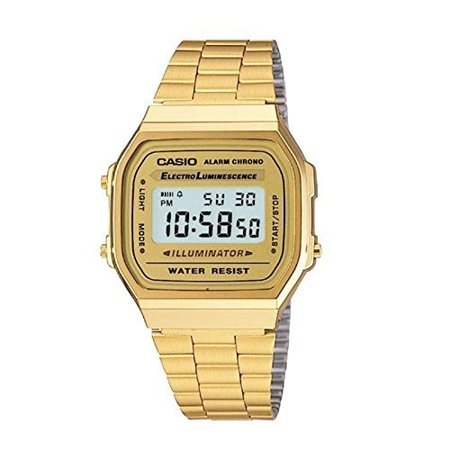 Casio Men's 'Vintage' Digital Illuminator Gold-Tone Stainless Steel Watch (Casio Efa 119bk 1avdr Erkek Kol Saati)