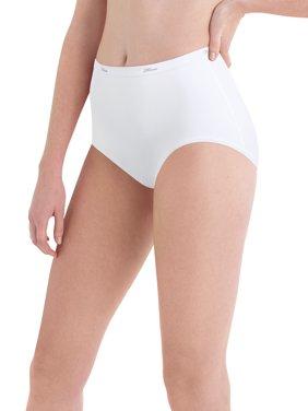 Women's Cotton No Ride Up Body Tones Brief Panties - 6 Pack
