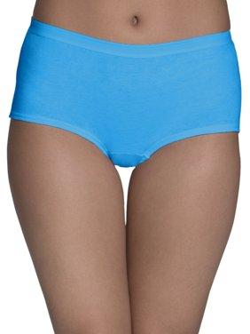 Women's Assorted Cotton Boyshort Panties, 6 Pack