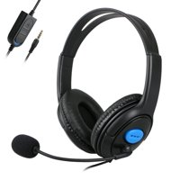 Wired Stereo Gaming Headset for PS4, PC, Xbox One Controller Laptop Mac, Noise Cancelling Headphones with Mic, Bass Surround, Soft Memory Earmuffs