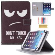 """Universal 7 Inch Tablet Case PU Leather Kids Shockproof Stand Case for Samsung Galaxy Tab 3 4 7.0/ Tab A/ Tab J/ Amazon Fire tablet/ Google Nexus 7 and More 6.5-7.5"""" Tablet, Don't Touch"""