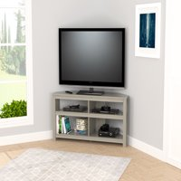 Inval Modern Smoke Oak Corner TV Stand