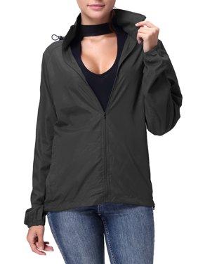 3cab6aa59f9 Product Image SAYFUT Women Men Nylon Windbreaker Jacket Sport Casual  Lightweight Hooded Outdoor Jacket Black L-