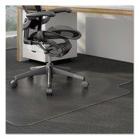 Universal 45 x 53 Chair Mat for Low Pile Carpet, Rectangular