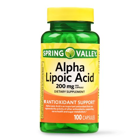 Spring Valley Alpha Lipoic Acid Capsules, 200 mg, 100 Ct ()