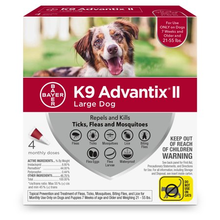 K9 Advantix II Flea And Tick Treatment For Large Dogs 4 Monthly Treatments
