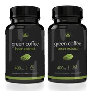 Totally Products Maximum Strength Green Coffee Bean Extract 400mg - 2 bottles X 60 Capsules