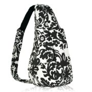 20992377d10a Extra Small Floral Healthy Back Bag - Black White AmeriBag Extra Small  Floral Healthy Back
