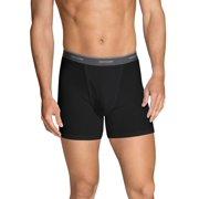 Men s Dual Defense Black Gray Short Leg Boxer Briefs 06940409e955