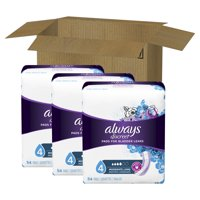 Always Discreet Incontinence Pads for Women, Moderate Absorbency, Long Length, 162 Count