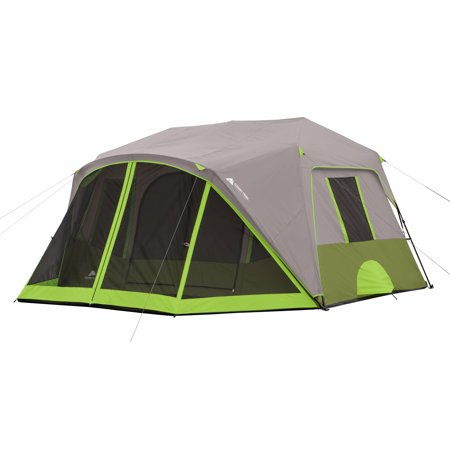 Ozark Trail 9 Person 2 Room Instant Cabin Tent with Screen Room (8 Person 2 Room)