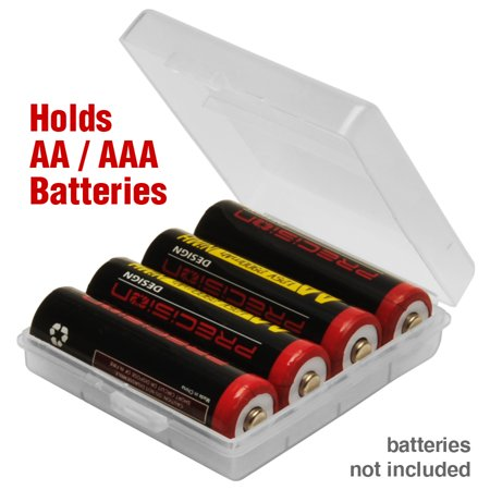 Precision Design AA / AAA Battery Case - Holds 4 AA or AAA