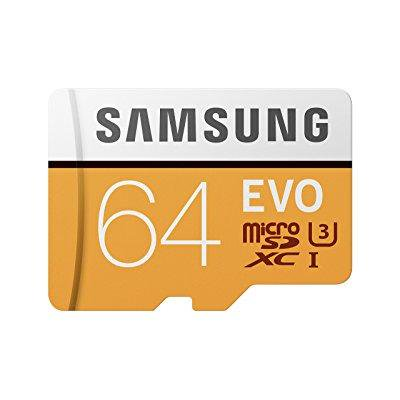 Samsung 64GB EVO Micro SDXC Class 10 Card with Adapter