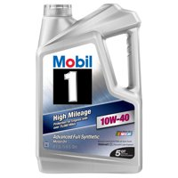 Mobil 1 10W-40 High Mileage Advanced Full Synthetic Motor Oil, 5 qt.