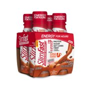 SlimFast Advanced Energy High Protein Ready to Drink Meal Replacement Shake, Caramel Latte, 11 fl. oz., Pack of 4