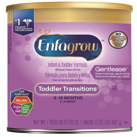 Enfagrow Toddler Transitions Gentlease Formula, 20 oz