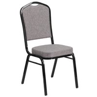 Flash Furniture HERCULES Series Crown Back Stacking Banquet Chair 2.5'' Thick Seat, Frame , Multiple Colors