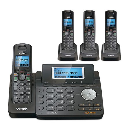 VTech DS6151-11 and 3 DS6101-11 2 Line Expandable cordless phone w/ 3 additional handsets 2 Line Cordless Phone