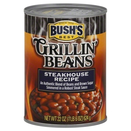 Bush's Best Grillin' Beans Steakhouse Recipe, 22 (Bush Grillin Beans Southern Pit Barbecue Ingredients)