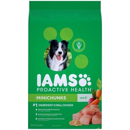 Iams Proactive Health Adult Minichunks Dry Dog Food Chicken 15 Lb