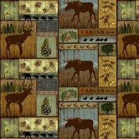 David Textiles Anti-pill Fleece Precut Fabric Mountain Pines 1.5 Yds X 60 Inches