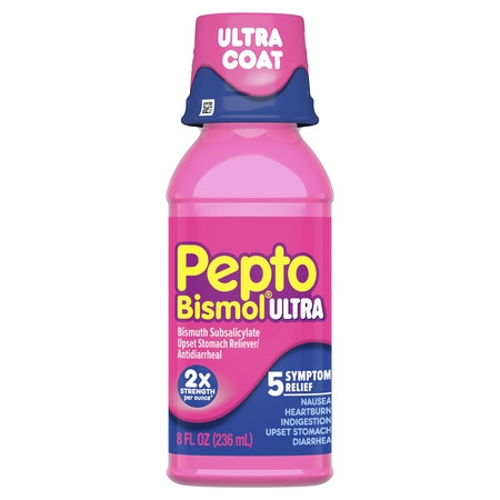 Pepto Bismol Liquid Ultra for Nausea, Heartburn, Indigestion, Upset Stomach, and Diarrhea Relief, Original Flavor 8