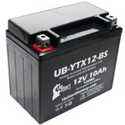 YTX12-BS Battery Replacement (10Ah, 12v, Sealed) Factory Activated, Maintenance Free Battery Compatible with - 2006 Kawasaki Ninja 650R, 2007 Kawasaki Ninja 650R, 2009 Kawasaki Ninja 650R