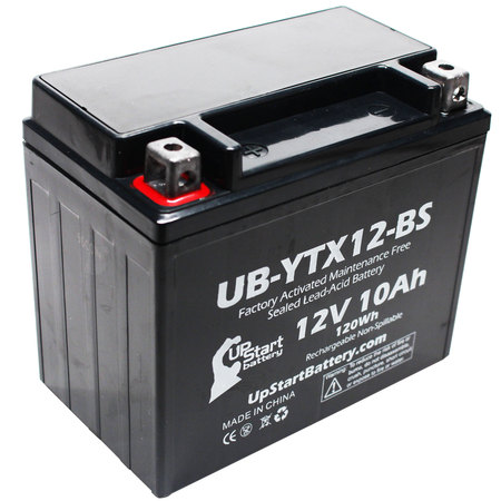 UpStart Battery Replacement 2000 Honda VF750C, C2, D Magna 750 CC Factory Activated, Maintenance Free, Motorcycle Battery - 12V, 10Ah,