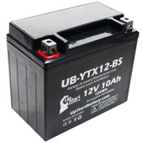 UpStart Battery Replacement 2013 Triumph Bonneville T100, SE, FI 865 CC Factory Activated, Maintenance Free, Motorcycle Battery - 12V, 10Ah, UB-YTX12-BS