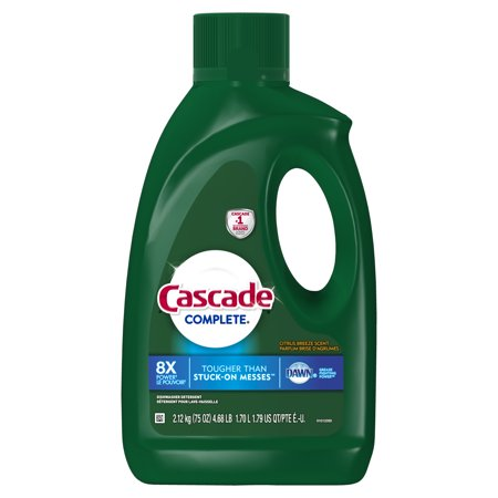 Cascade Complete Gel Dishwasher Detergent, Citrus Breeze, 75