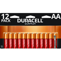 Duracell Quantum Alkaline AA Batteries with PowerCheck, 12 Pack