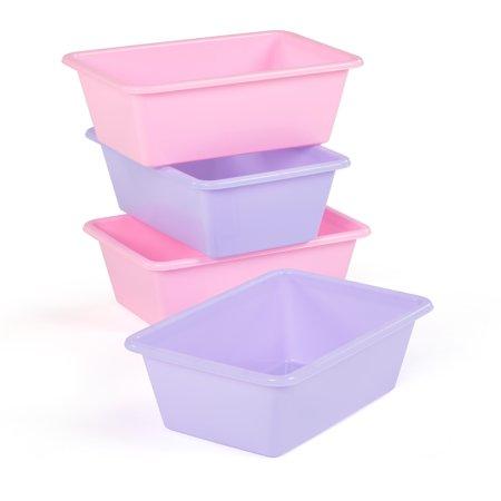 Pink/Purple Bin Pack Set of 4, Standard Size