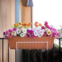 Sun Joe Flower Box Holder, White