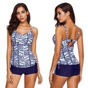 7f5d9c795cc Plus Size Women s Floral Tankini Swimsuit Push Up Padded Bikini Set Swimwear  Bathing Suit