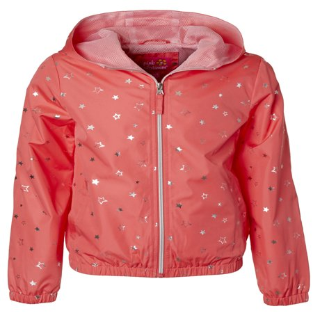 Star Foil Print Windbreaker Jacket with Mesh Lining (Little Girls & Big Girls)](Girls Jacket)