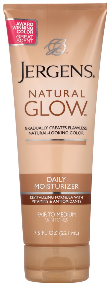 (2 pack) Jergens Natural Glow Daily Moisturizer Fair to Medium Skin Tones, 7.5 FL OZ