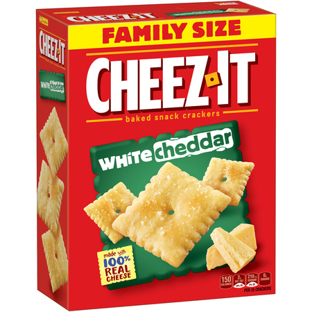Cheez-It Baked White Cheddar Snack Crackers Family Size, 21