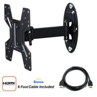 "Atlantic Full Motion TV Mount for 10""-42"" TVs with HDMI Cable"
